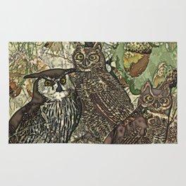 My owls in batik style Rug