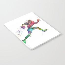 Football Player Sports Art Print Watercolor Print American Football Notebook