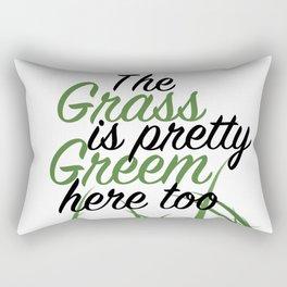 Grass Is Green Here Too Rectangular Pillow