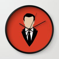 moriarty Wall Clocks featuring 3 Jim Moriarty by Alice Wieckowska