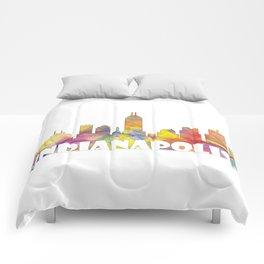 Indianapolis Indiana  Skyline MCLR 2 Comforters