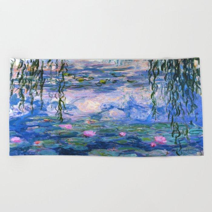 Water Lilies Monet Beach Towel