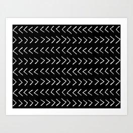 Arrows on Black Art Print