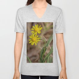 Yellow Dasies Unisex V-Neck