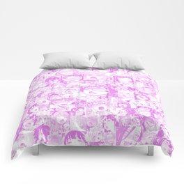 Pastel Ahegao Collage Comforters