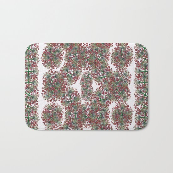Border gardens of the mind Bath Mat
