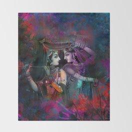 Radha Krishna- the divine Throw Blanket