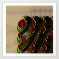 watermelon Art Prints featuring Watermelon by Take F1ve