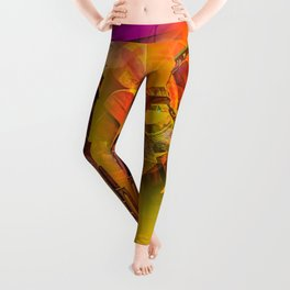 Lighthouse romance Leggings