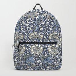 William Morris Navy Blue Botanical Pattern 7 Backpack