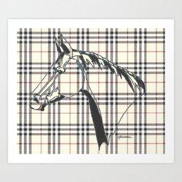 """Equine Plaid"" Art Print"