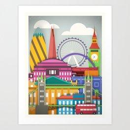 Touristique - London Art Print