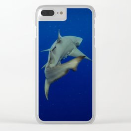 Lemon Shark Cruise Clear iPhone Case