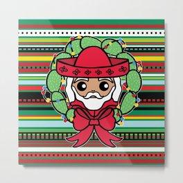 Santa Claus Serape Metal Print
