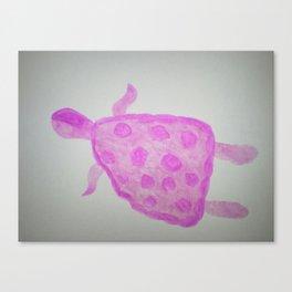 Pink Turtle Canvas Print