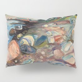 """Edvard Munch """"Shore with Red House"""", 1904 Pillow Sham"""