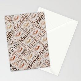 Belgian Malinois Dog Word Art pattern Stationery Cards