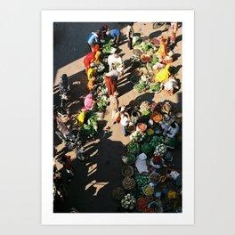 Pushkar Markets Art Print
