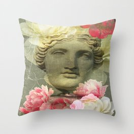 Venera and flowers Throw Pillow