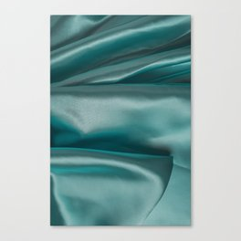 Smooth elegant emerald silk Canvas Print