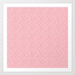 Pink Leopard Print Art Print