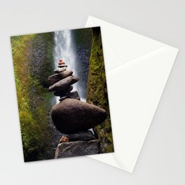 Stone Carin, Oneonta Falls, Oneonta Gorge, Oregon Stationery Cards