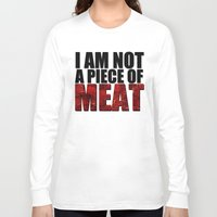 meat Long Sleeve T-shirts featuring MEAT by Nathan