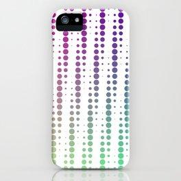 Dots in a half tone iPhone Case