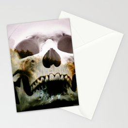 Horror in the woods Stationery Cards