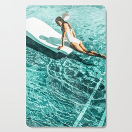 Pool Day #society6 #painting #summer Cutting Board