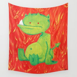 Little Green Demon Baby Wall Tapestry