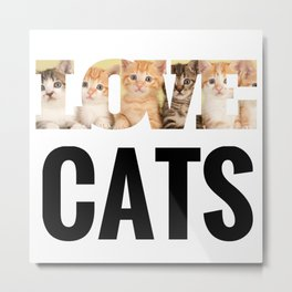 Love Cats Metal Print