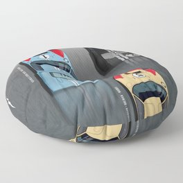 GT40 Le Mans 1966, Finish side by side Floor Pillow