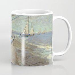 Fishing boats on the beach at Les Saintes-Maries-de-la-Mer Coffee Mug