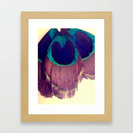 Peacocking Framed Art Print