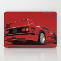ferrari iPad Cases featuring FERRARI F40 by MATT WARING