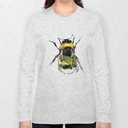 Bumblebee, bee artwork, bee design minimalist honey making design Long Sleeve T-shirt