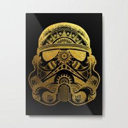 Mandala StormTrooper - Gold Foil Metal Print
