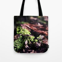 moss Tote Bags featuring Moss by Sushibird