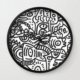 Black and White Street Art Graffiti King's Party Wall Clock