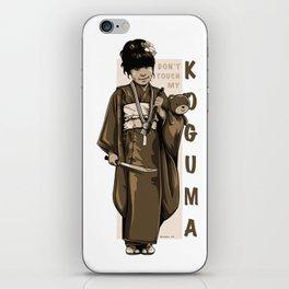 Don't Touch My KOGUMA iPhone Skin