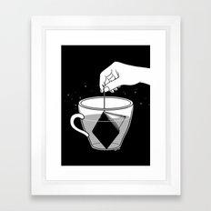 A Cup of Book Framed Art Print