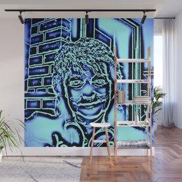 Neon-portrait Wall Mural
