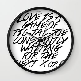 Love is a game Wall Clock