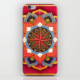 """""""Rose of the Winds"""" Pink mandala by Ilse Quezada iPhone Skin"""