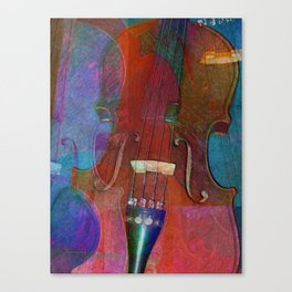 Violin Abstract Two Canvas Print
