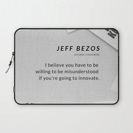 Jeff Bezos Quote On Be Willing To Be Misunderstood Laptop Sleeve