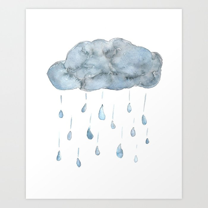 watercolor rain cloud art print by lindsaygail society6 watercolor rain cloud art print by lindsaygail