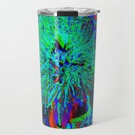 """Kiwi Lifestyle"" - Pohutukawa NZ Blue Bloom- Pop ART Travel Mug"