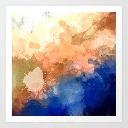 "Modern Contemporary "" Tranquility""Abstract Art Print"